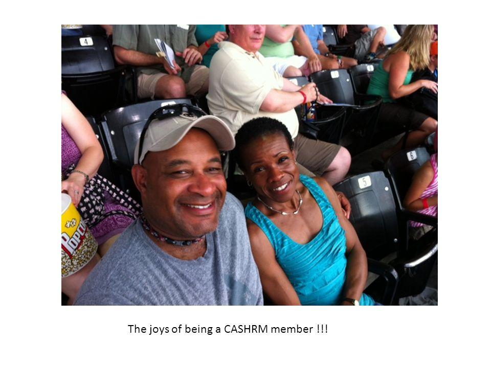 The joys of being a CASHRM member !!!