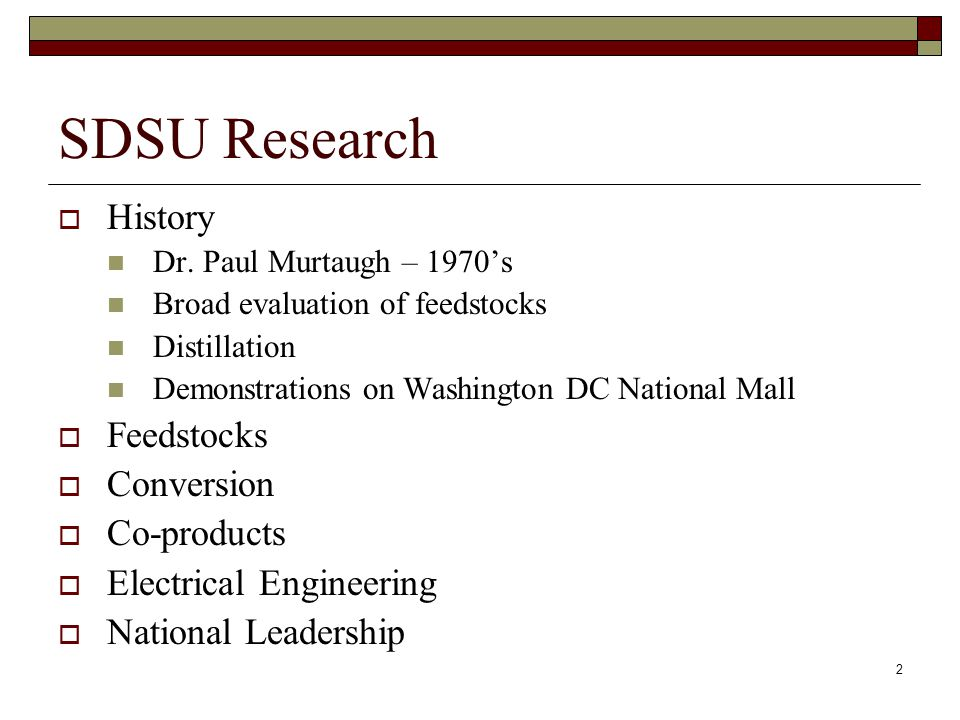 2 SDSU Research  History Dr.