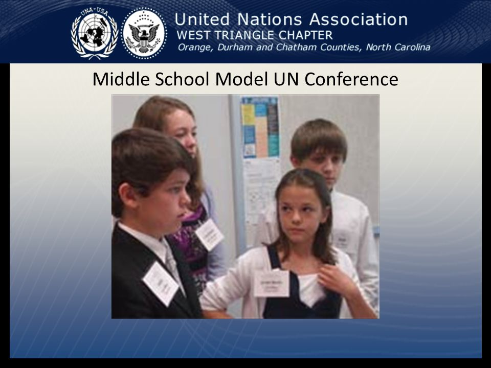 Middle School Model UN Conference