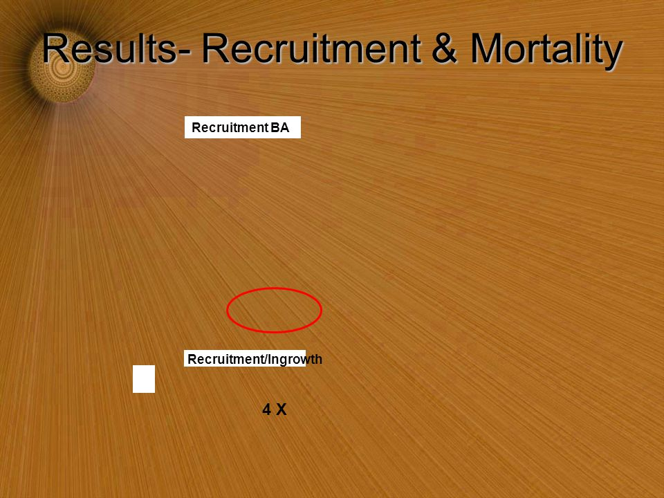 Results- Recruitment & Mortality 4 X Recruitment BA Recruitment/Ingrowth