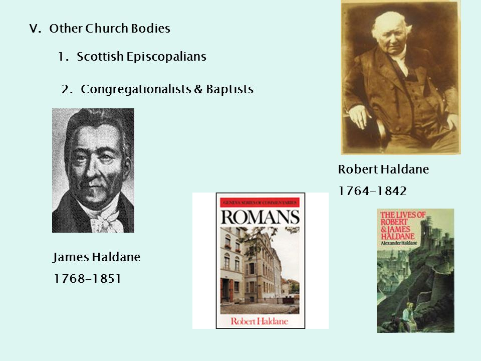 V.Other Church Bodies 1. Scottish Episcopalians 2.