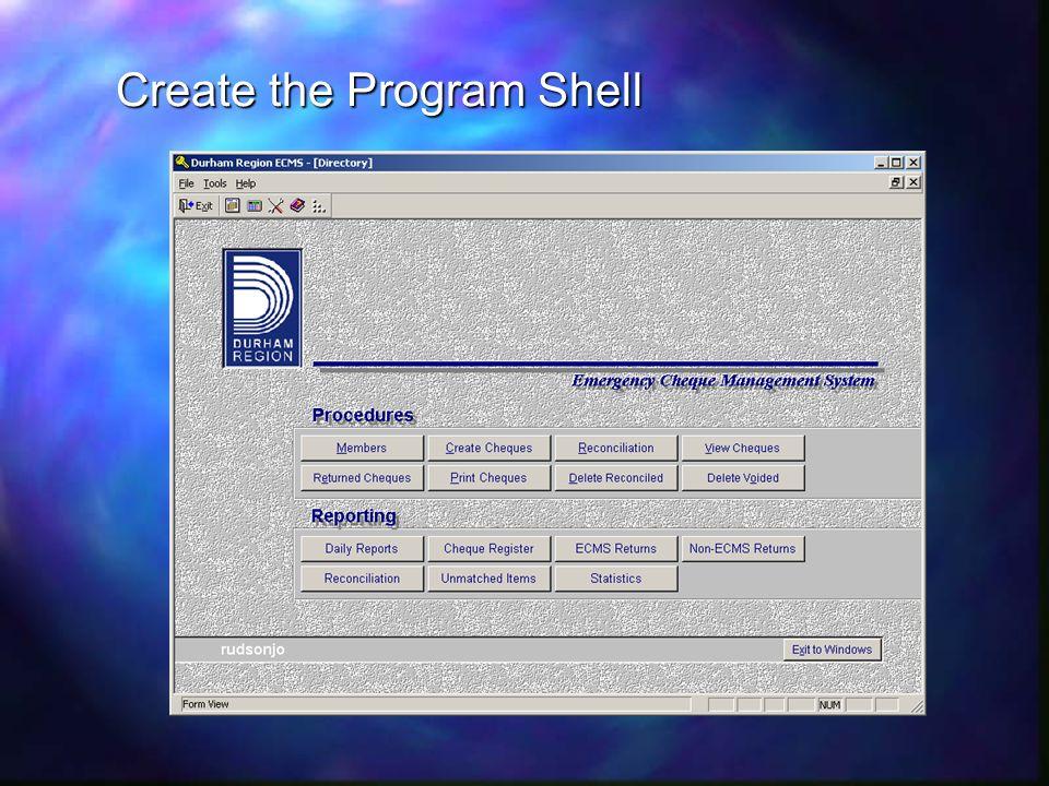 Create the Program Shell