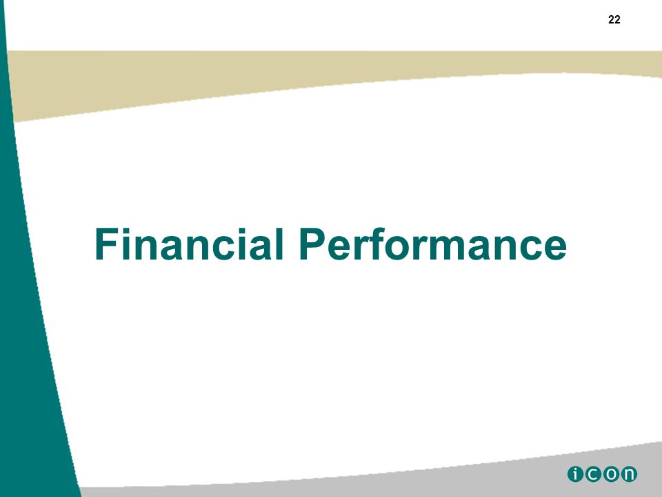 22 Financial Performance