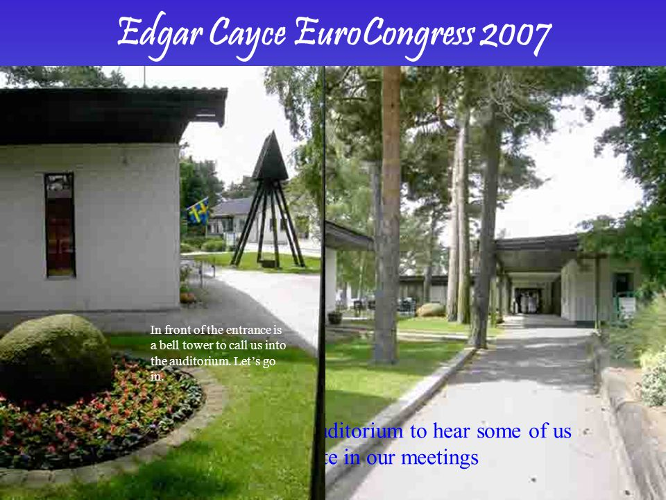 Now, let us look at the programme for the EuroCongress
