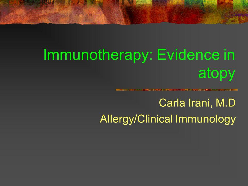 Grass pollen immunotherapy for hayfever Varney va et al BMJ 1991;302:265-9