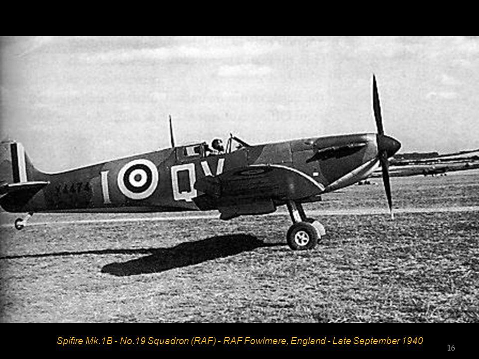 Spifire Mk.1B - No.19 Squadron (RAF) - RAF Fowlmere, England - Late September 1940 16
