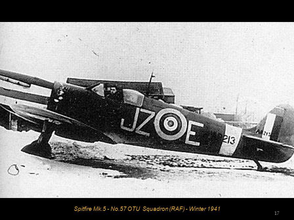 Spitfire Mk.5 - No.57 OTU Squadron (RAF) - Winter 1941 17