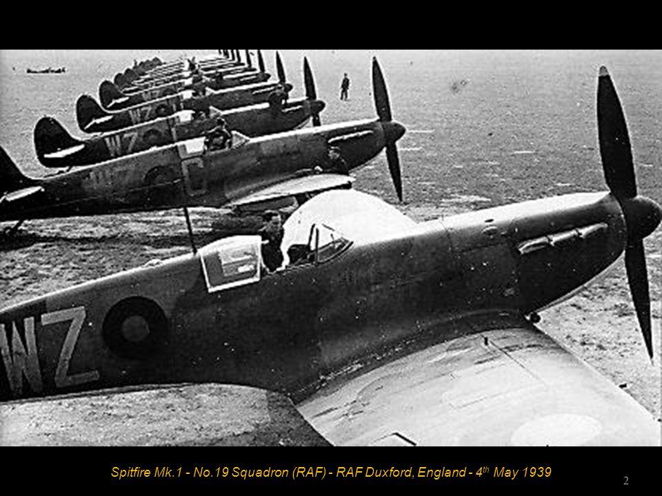 Spitfire Mk.1 - No.19 Squadron (RAF) - RAF Duxford, England - 4 th May 1939 2