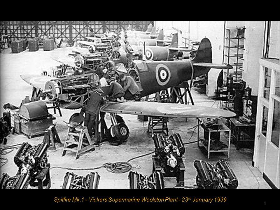Spitfire Mk.1 - Vickers Supermarine Woolston Plant - 23 rd January 1939 4