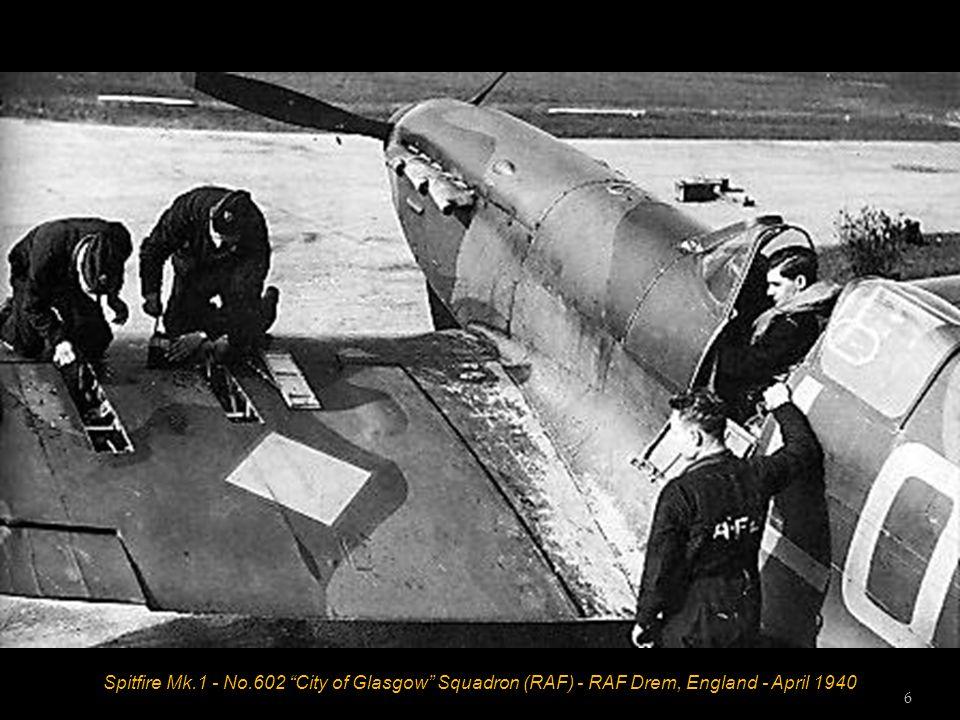 Spitfire Mk.1 - No.602 City of Glasgow Squadron (RAF) - RAF Drem, England - April 1940 6