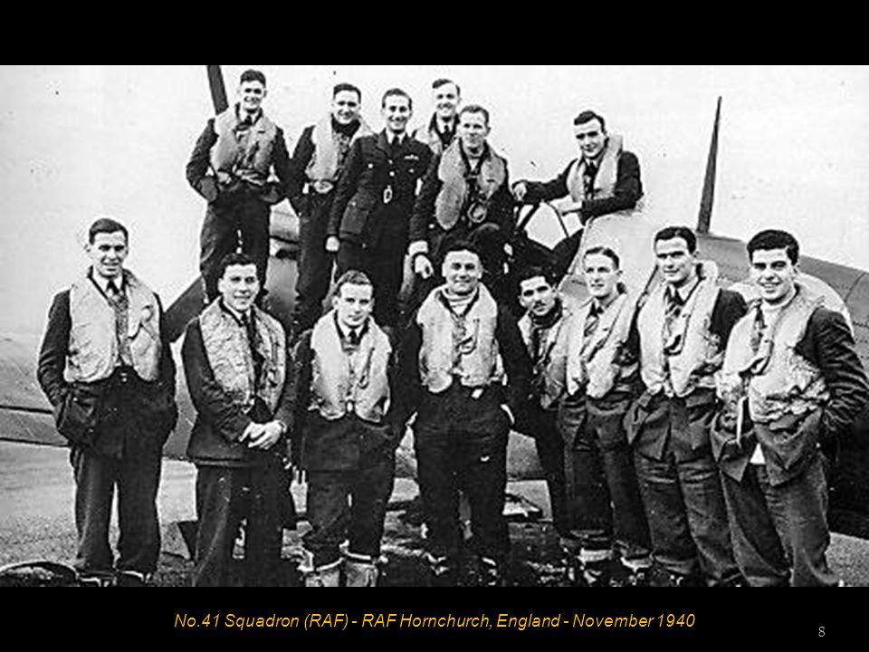 No.41 Squadron (RAF) - RAF Hornchurch, England - November 1940 8