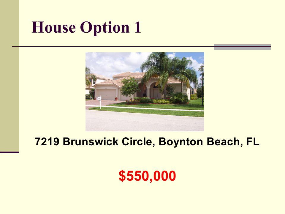 House Option 1 7219 Brunswick Circle, Boynton Beach, FL $550,000