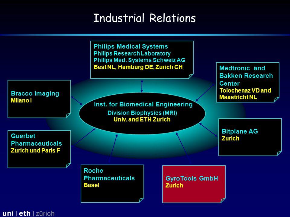 Industrial Relations Inst. for Biomedical Engineering Division Biophysics (MRI) Univ.