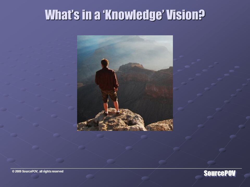 © 2009 SourcePOV, all rights reserved SourcePOV On the path to Knowledge …..