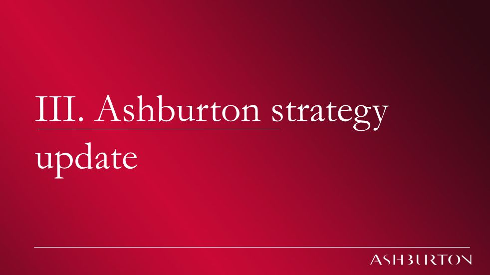 The 'double dip' debate | Ashburton Investment presentation | July 2010 Climate change III. Ashburton strategy update
