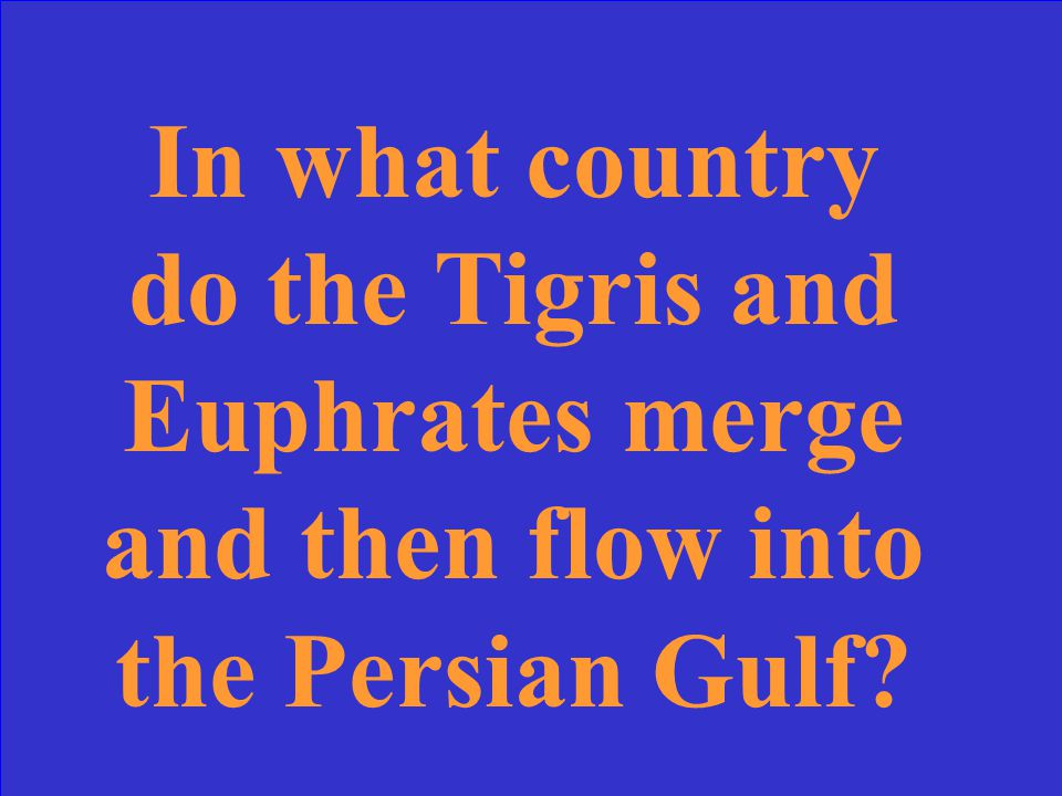 In what country do the Tigris and Euphrates merge and then flow into the Persian Gulf?