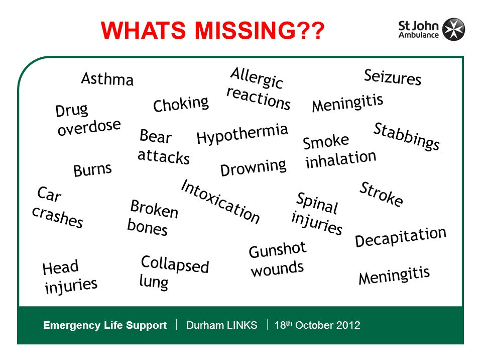Emergency Life Support  Durham LINKS  18 th October 2012 Which is where we come in….