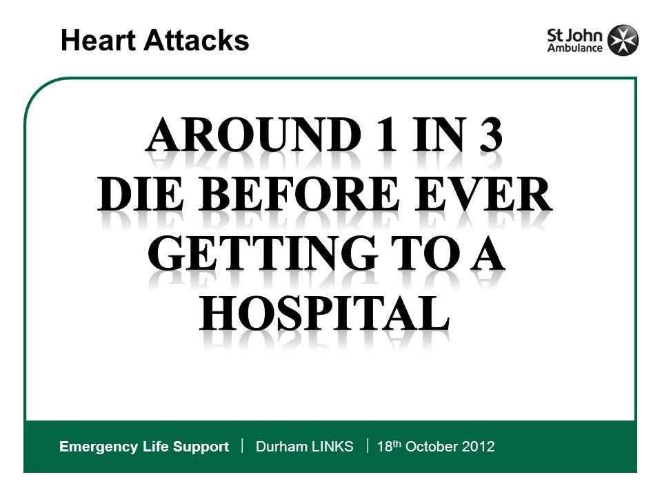 Emergency Life Support  Durham LINKS  18 th October 2012 CARDIAC ARRESTS