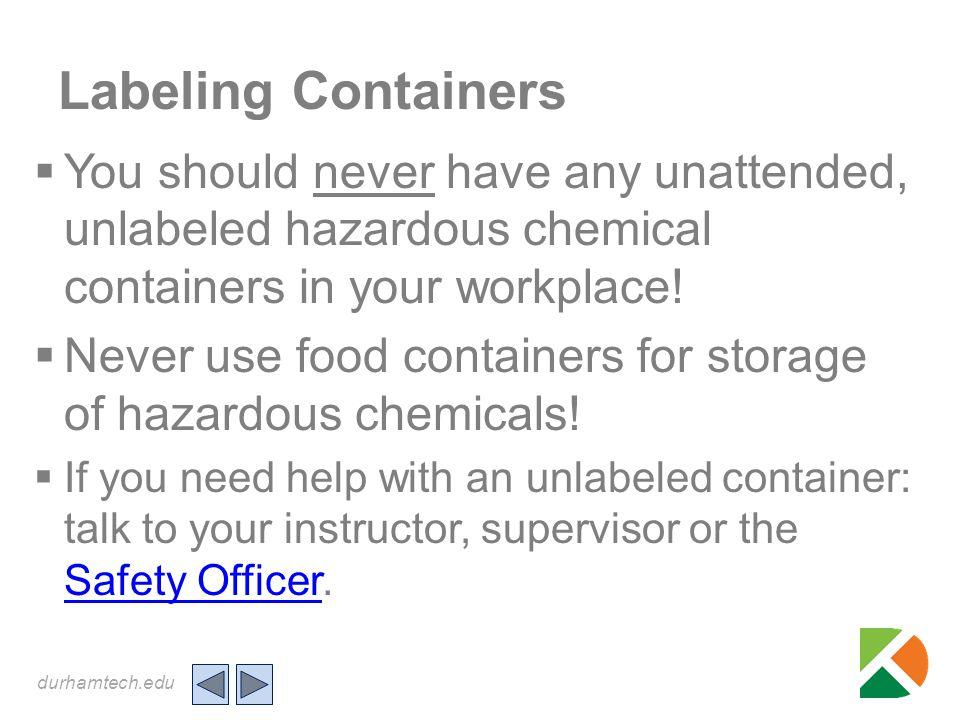 durhamtech.edu Chemical Label Pictograms Signify Hazards .