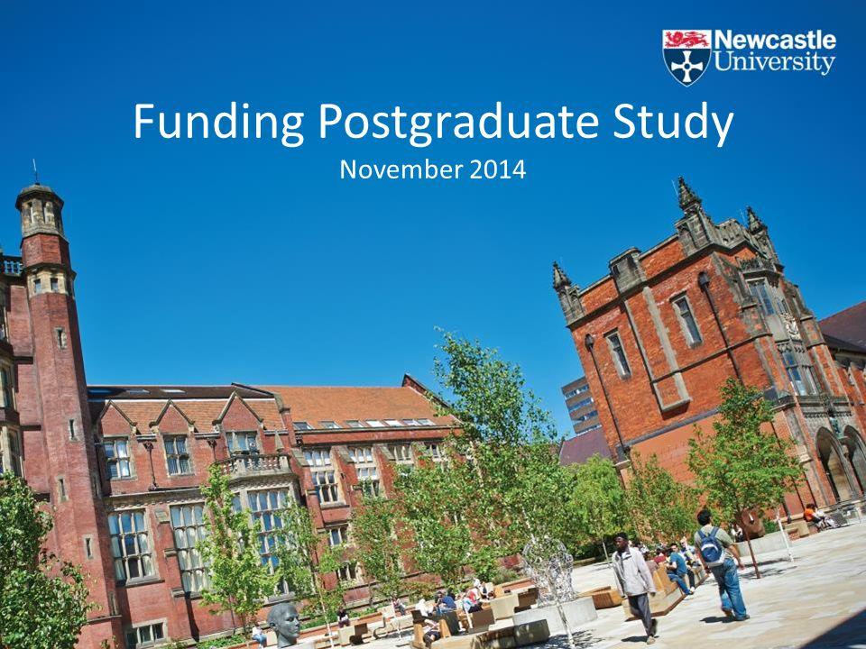 Funding Postgraduate Study November 2014