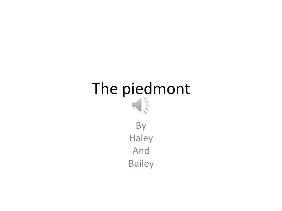 The piedmont By Haley And Bailey