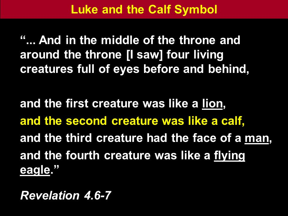 Luke and the Calf Symbol ...