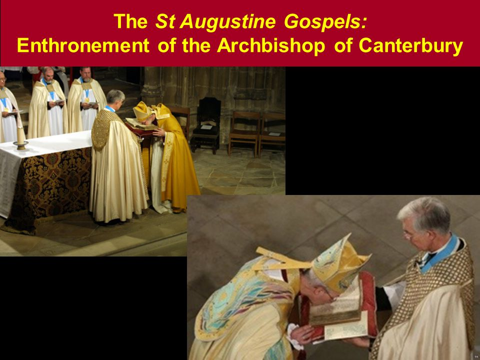 The St Augustine Gospels: Enthronement of the Archbishop of Canterbury