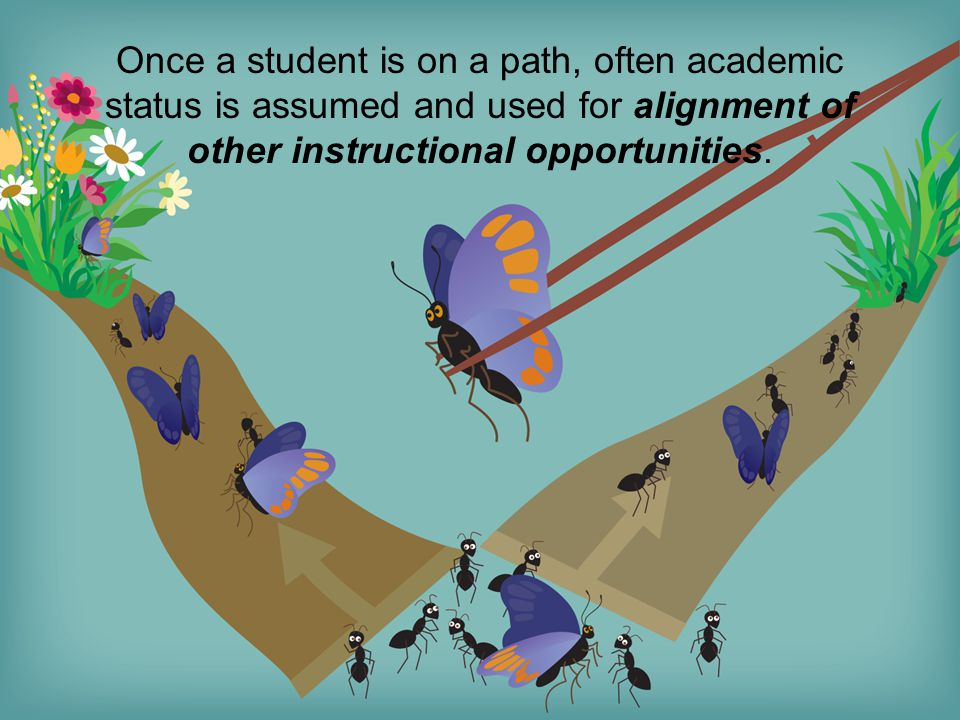 Once a student is on a path, often academic status is assumed and used for alignment of other instructional opportunities.