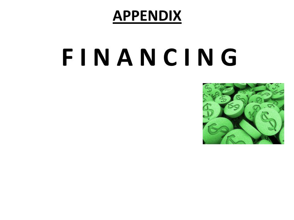 APPENDIX F I N A N C I N G