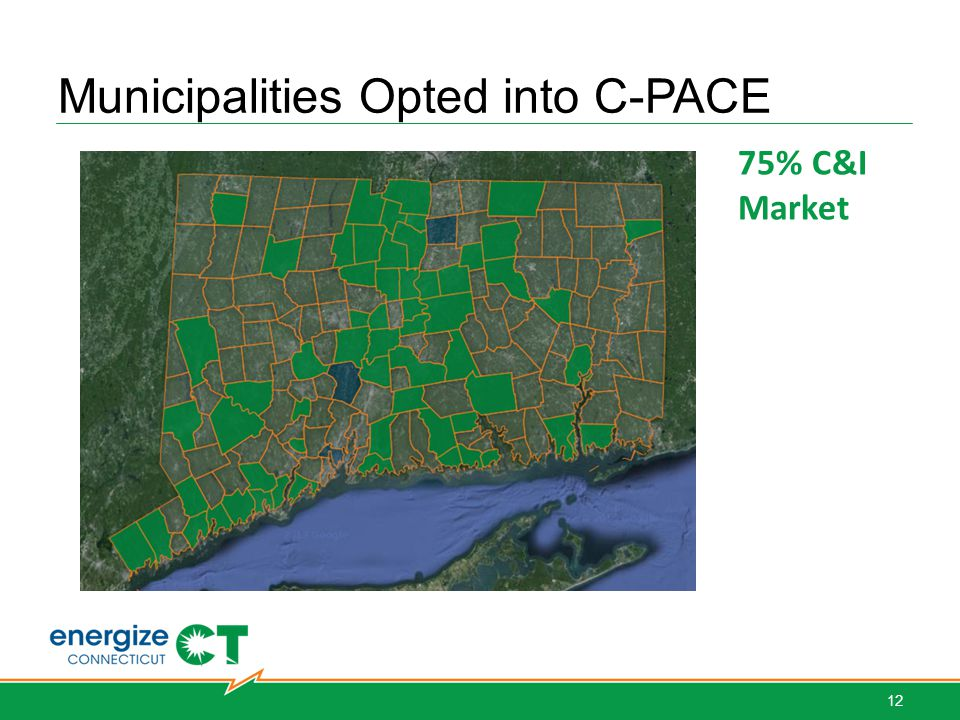 Municipalities Opted into C-PACE 75% C&I Market 12