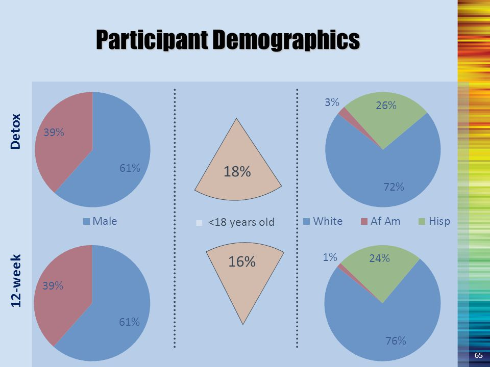 Participant Demographics 18% 16% ■ <18 years old 65