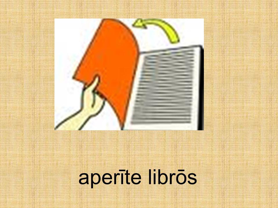 aperīte librōs