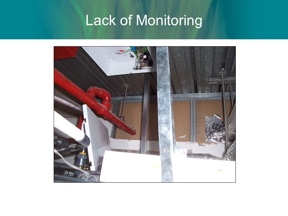 Lack of Monitoring