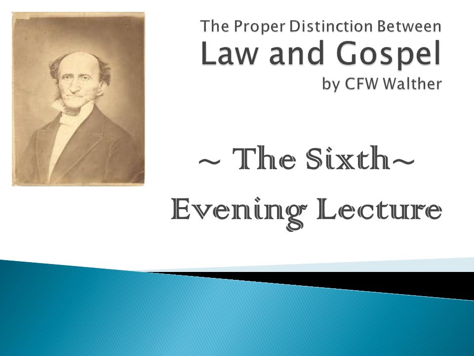 ~ The Sixth~ Evening Lecture