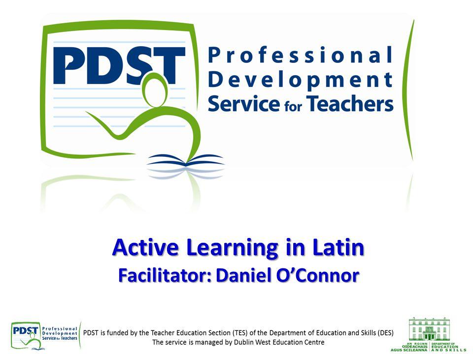 Active Learning in Latin Facilitator: Daniel O'Connor
