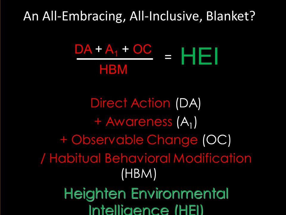 14 DA + A 1 + OC HBM = HEI An All-Embracing, All-Inclusive, Blanket.
