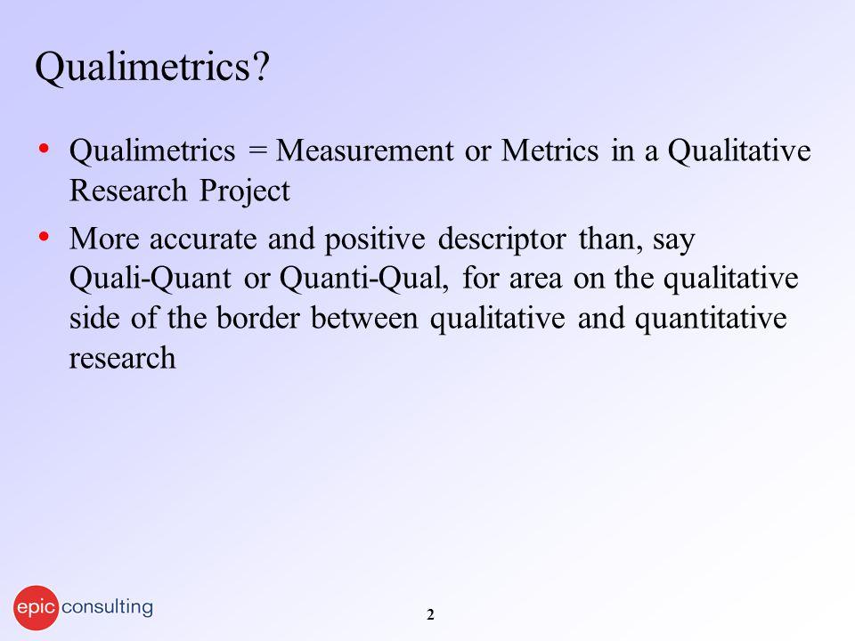 2 Qualimetrics.