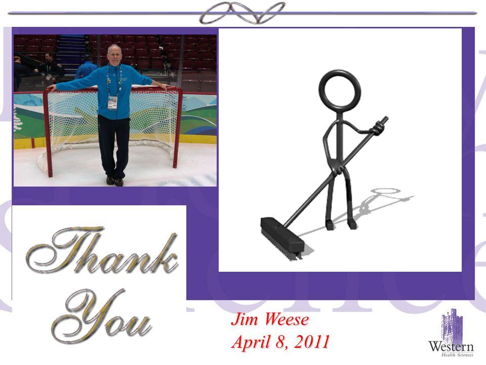 Jim Weese April 8, 2011