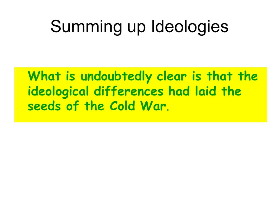 Cold War Essay Topics