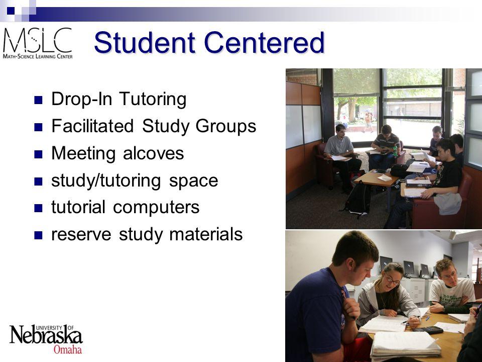 Center Usage Daytime and evening hours  ~1300 student-visits per week  ~30 undergraduate student tutors Collectively work ~200 hours/week Summer  ~500 student-visits per week