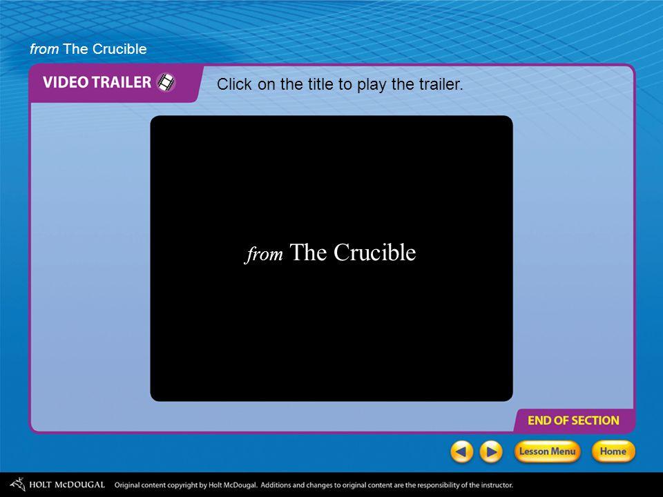Literary analysis the crucible?