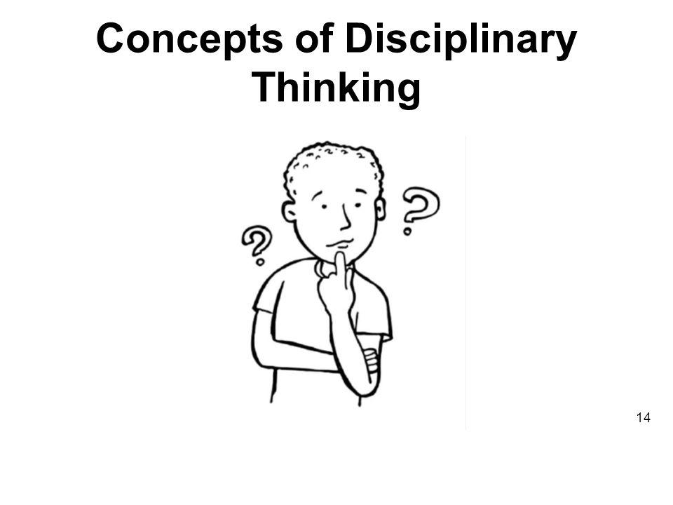 Concepts of Disciplinary Thinking 14