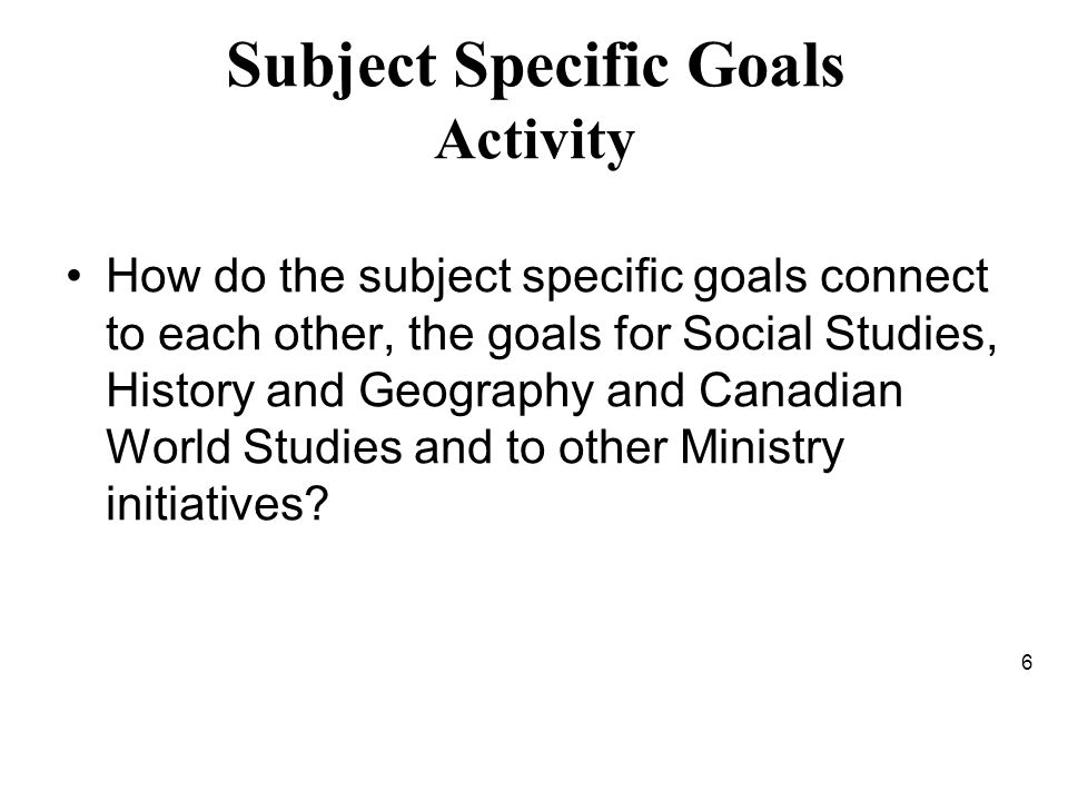 Reading the Subject Openers Concepts of Disciplinary Thinking can be found at: Geography: pg.