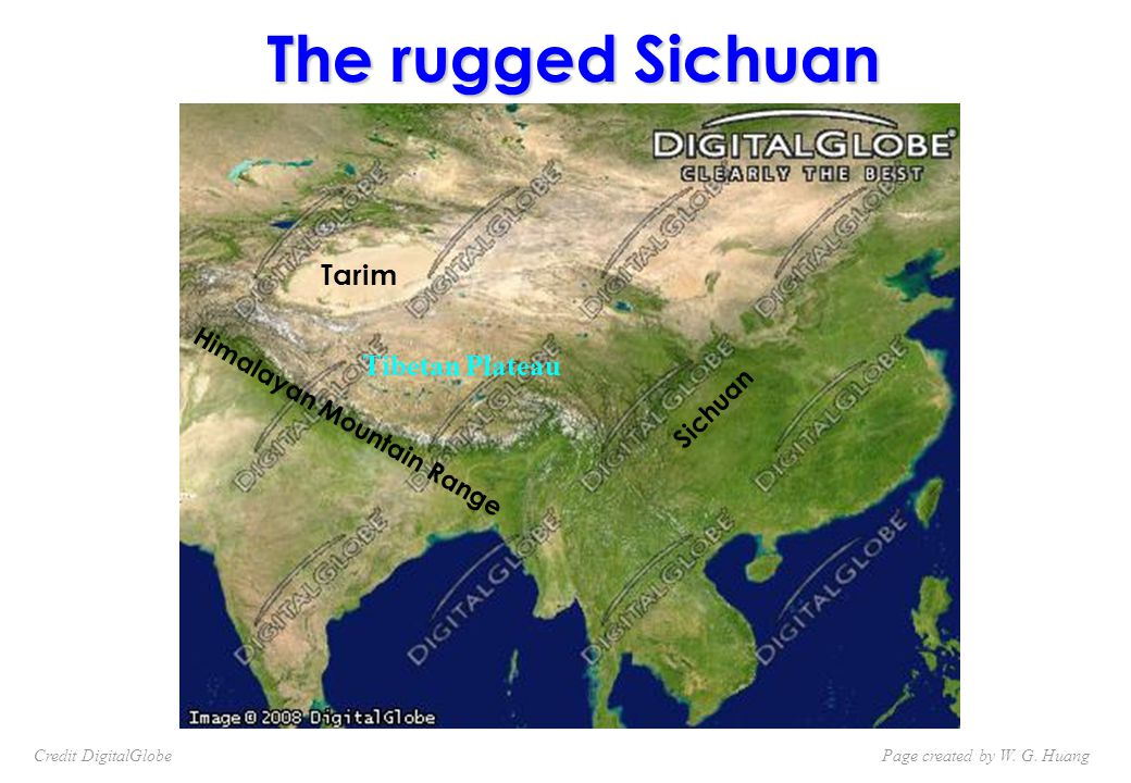 Himalayan Mountain Range Sichuan The rugged Sichuan Tibetan Plateau Tarim Page created by W.