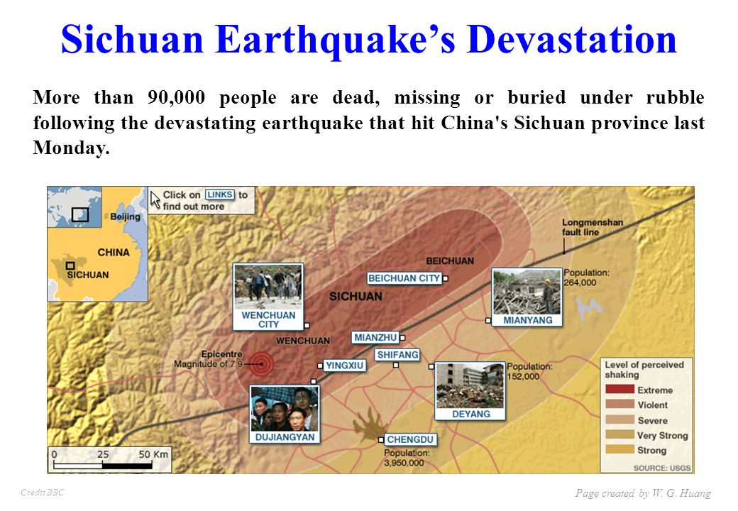 Sichuan Earthquake's Devastation More than 90,000 people are dead, missing or buried under rubble following the devastating earthquake that hit China s Sichuan province last Monday.