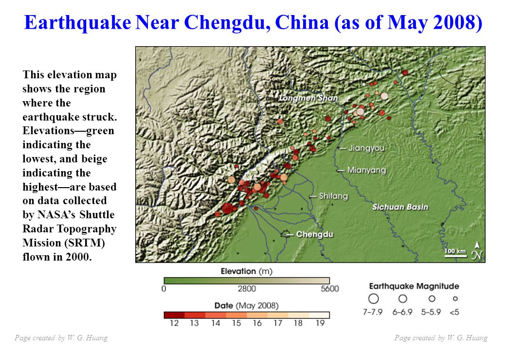 MIT s tectonicist Clark Burchfield is quoted in the NY Times as being surprised that an earthquake of that magnitude (which requires a lot of fault to have moved at once) occurred in this particular spot.