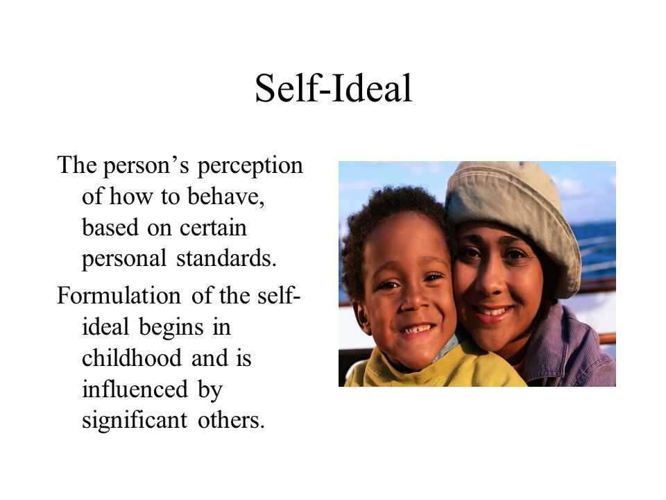 Self-Esteem A person's personal judgment of his or her own worth, based on how well behavior matches up with self- ideal.