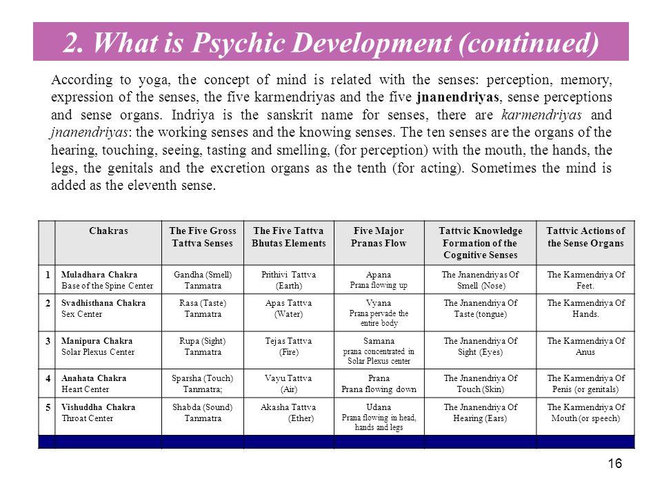16 ChakrasThe Five Gross Tattva Senses The Five Tattva Bhutas Elements Five Major Pranas Flow Tattvic Knowledge Formation of the Cognitive Senses Tatt