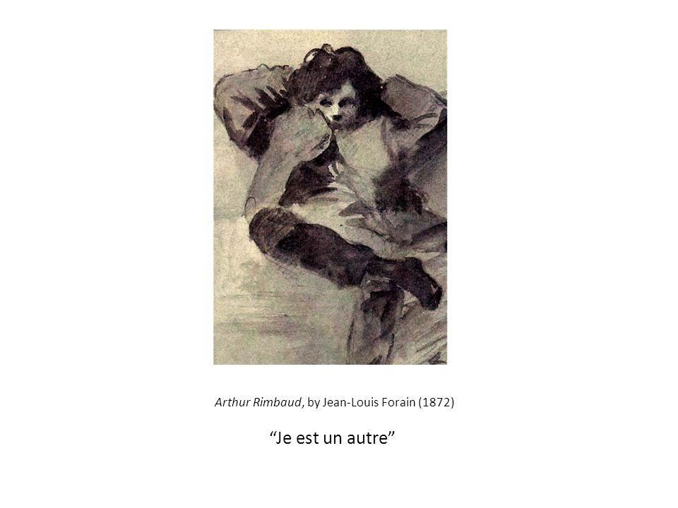 """Arthur Rimbaud, by Jean-Louis Forain (1872) """"Je est un autre"""""""