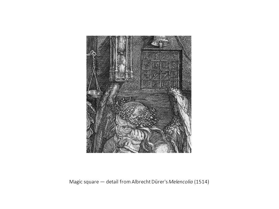 Magic square — detail from Albrecht Dürer's Melencolia (1514)